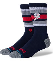 men's stance backfield new england patriots socks, size large - blue