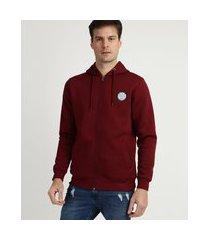 blusão de moletom masculino com capuz e zíper vermelho