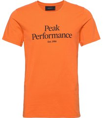 m original tee the alpine t-shirts short-sleeved orange peak performance