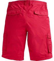 shorts med extra plats över magen men plus röd