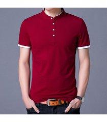 camiseta de manga corta slim para hombre -rojo
