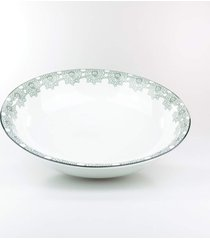 saladeira 24 cm porcelana schmidt - dec. taãs - multicolorido - dafiti