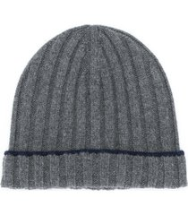 brunello cucinelli ribbed beanie - grey