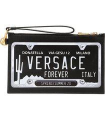 versace versace number plate pouch
