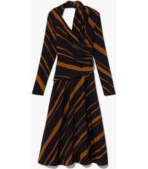 diagonal stripe twisted dress
