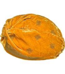 pinko glitter velvet turban - yellow