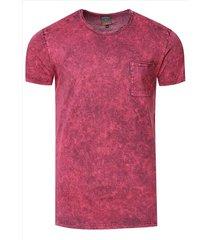 rusty neal t-shirt heren - bordeaux 15283