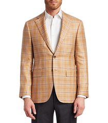 cashmere-blend check jacket
