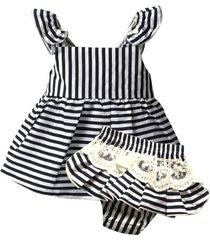 clothing sets, sleeveless stripe belt t-s+white lace shorts set