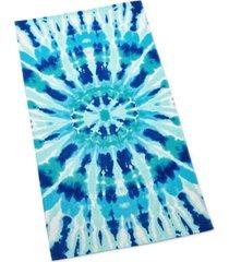 martha stewart collection radiant tie die beach towel, created for macy's bedding
