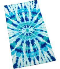 martha stewart collection radiant tie dye beach towel, created for macy's bedding