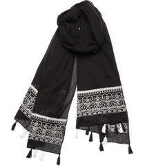 pañuelo embroidery negro humana