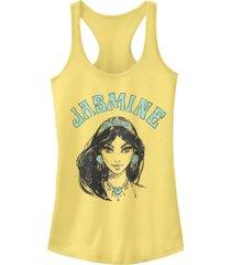 disney juniors' aladdin jasmine portrait ideal racerback tank top