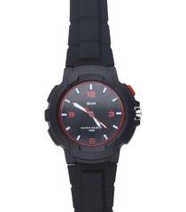 harlem – orologio so fancy 3h nero e rosso con cinturino nero per uomo