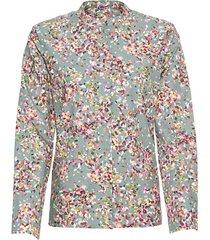 licht uitlopende blouse van bio-katoen, zeegras-motief 42