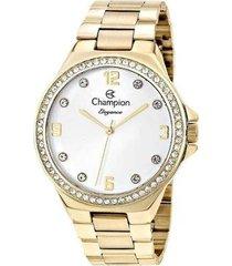 relógio champion elegance cristais feminino