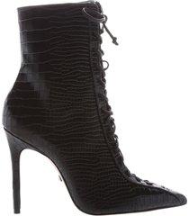 anaiya bootie - 7.5 black crocodile effect leather