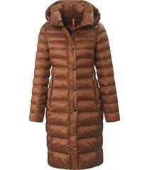 doorgestikte jas met afneembare capuchon van fuchs & schmitt bruin