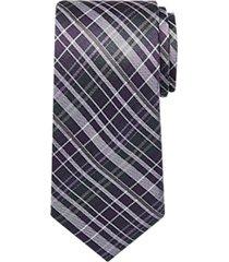 awearness kenneth cole purple plaid narrow tie