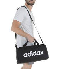 mala adidas linear core duffel bag m - preto