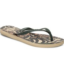 hav slim animals shoes summer shoes flip flops brun havaianas