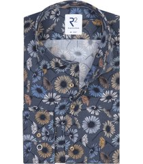 overhemd bloemenprint blauw r2 amsterdam
