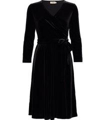cia velvet jurk knielengte zwart jumperfabriken