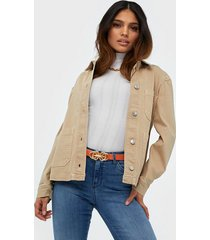 selected femme slfella ls cornstalk denim jacket w jeansjackor