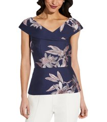 adrianna papell floral-print top