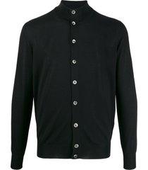 dell'oglio funnel neck knit cardigan - black