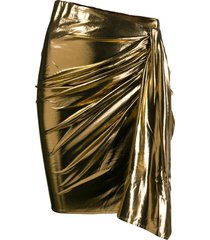 ba & sh berry ruched skirt - gold