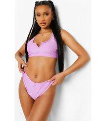 essentials bikini broekje met v-taille, bright lilac