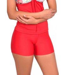 bikini short estilo hot pant rojo samia
