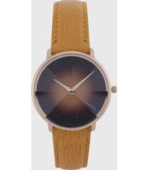 reloj dorado-negro  fossil