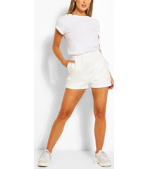 pocket detail sweat shorts, white