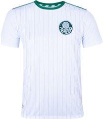 camiseta do palmeiras fardamento - masculina - branco/verde