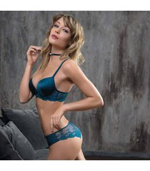 ambra lingerie bh's platinum fashion oil push bh groen
