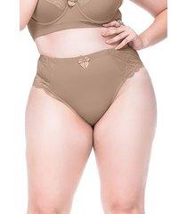 calcinha sempre sensual lingerie vintage marrom claro - marrom - feminino - dafiti