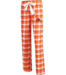 concepts sport women's cleveland browns piedmont flannel pajama pants