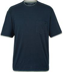 wolverine men's miter short sleeve tee navy, size m