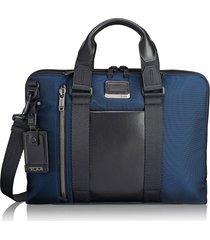 men's tumi alpha bravo aviano briefcase - blue