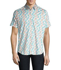 classic-fit cocktail print short-sleeve shirt