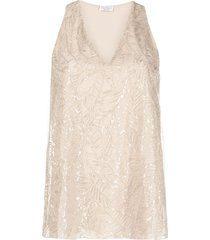 brunello cucinelli beaded vest top - neutrals