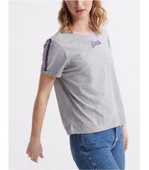 superdry women's vintage logo micro boxy t-shirt