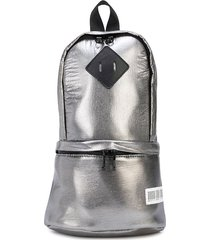 mostly heard rarely seen one shoulder backpack - silver