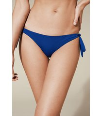 calzedonia indonesia tie brazilian bikini bottoms woman blue size 3