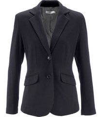 blazer sciancrato in jersey di cotone (nero) - bpc bonprix collection