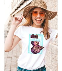 koszulka biała damska organiczna humanity