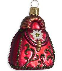 european glass 3-piece purse, ny shopping bag & shoe ornament set