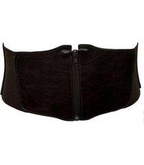 cinto cinto exclusivos de couro corselet feminino - feminino